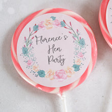 Load image into Gallery viewer, Floral Wreath Hen Party Giant Lollipops