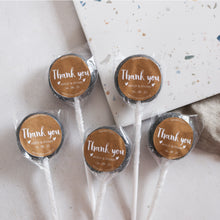 Load image into Gallery viewer, Kraft Style Thank You Gift Wedding Favour Lollipops