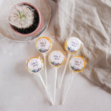 Load image into Gallery viewer, Succulent Themed Wedding Favour Lollipops