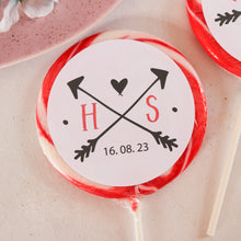 Load image into Gallery viewer, Initials Wedding Favour Giant Lollipops