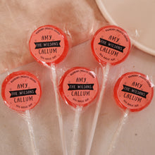 Load image into Gallery viewer, Surname Wedding Favour Lollipops