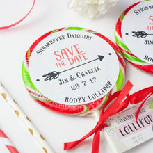 Load image into Gallery viewer, Save the Date 'Arrow' Giant Wedding Lollipops
