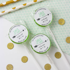 Save the Date 'Arrow' Wedding Lollipops