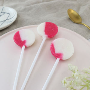 Raspberry and White Chocolate Lollipops