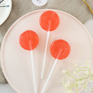 Alcoholic Strawberry Champagne Lollipops