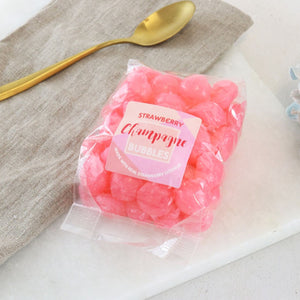 Boozy Strawberry Champagne Sweets