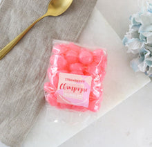Load image into Gallery viewer, Boozy Strawberry Champagne Sweets
