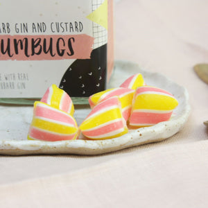Rhubarb Gin and Custard Humbugs