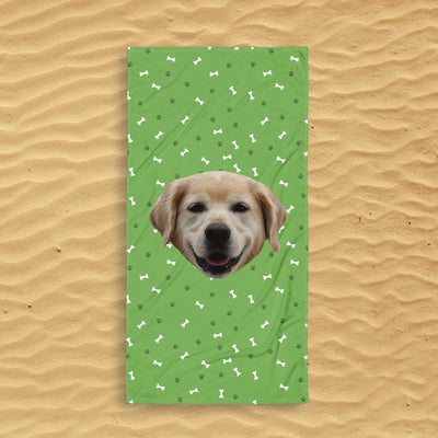 Custom Dog Beach Towel