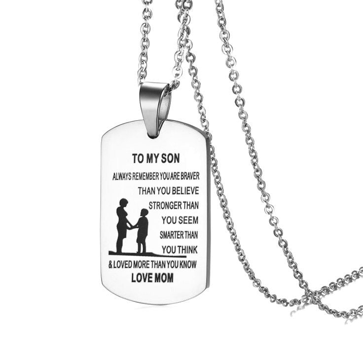 From Mom to Son Necklace