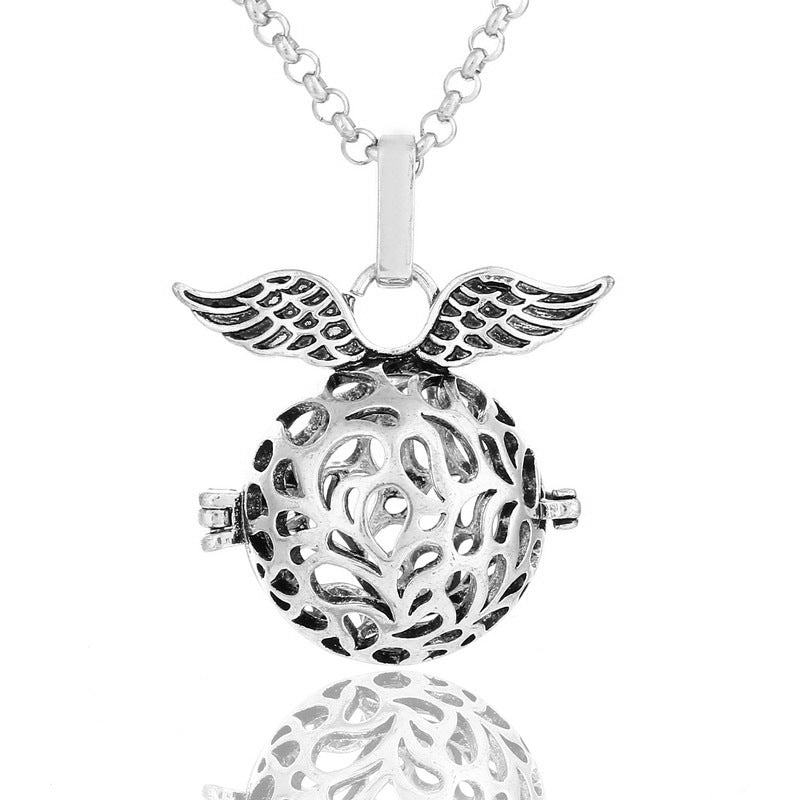 Rose Angel Wings Aromatherapy Necklace