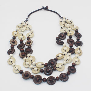 Wooden Beads Geometric Necklace