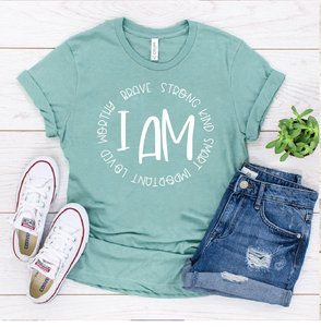 I AM - CIRCLE - PRESALE - SHIPS IN 7-10 BUSINESS DAYS - PACK OF 25