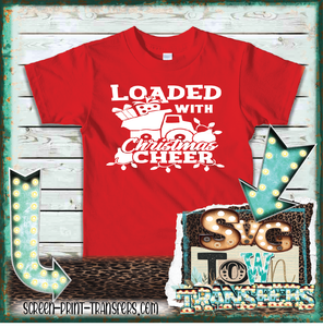 LOADED WITH CHRISTMAS CHEER - DUMP TRUCK - YOUTH SIZE -IN STOCK - READY TO SHIP - SHIPS NEXT DAY
