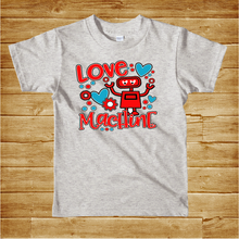 Load image into Gallery viewer, VALENTINE'S DAY  -YOUTH SIZE  - Love Machine - Full Color Transfer - PRE-SALE - SHIPS IN 7-10 DAYS - PACK OF 10