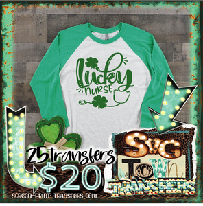 ST PATRICK'S DAY -LUCKY NURSE -  PRE-SALE - SHIPS IN 7-10 BUSINESS DAYS - PACK OF 25