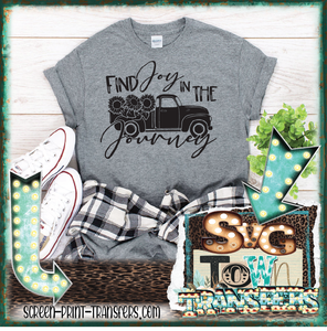 FIND JOY IN THE JOURNEY - VINTAGE TRUCK  - READY TO SHIP - SHIPS NEXT DAY