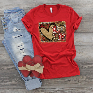 VALENTINE'S DAY -Animal Print Love - Full Color Transfer - IN STOCK - READY TO SHIP - SHIPS NEXT DAY