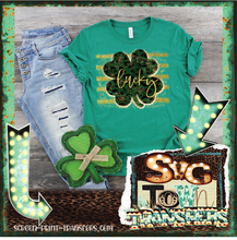 Load image into Gallery viewer, ST PATRICK'S DAY - LUCKY - Full Color Transfer -  PRE-SALE - SHIPS IN 7-10 BUSINESS DAYS