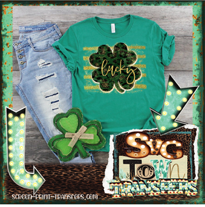 ST PATRICK'S DAY - LUCKY - Full Color Transfer -  PRE-SALE - SHIPS IN 7-10 BUSINESS DAYS