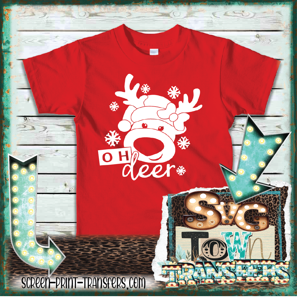 OH DEER - GIRL REINDEER - YOUTH SIZE - PRESALE - SHIPS IN 7-10 DAYS