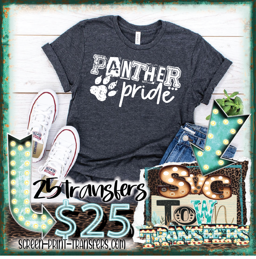 PANTHER  PRIDE - WHITE  - READY TO SHIP - IN STOCK - SHIPS NEXT DAY
