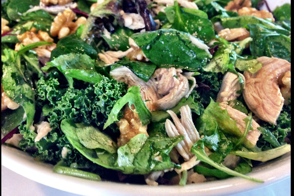 Kale with Broccoli & Chicken