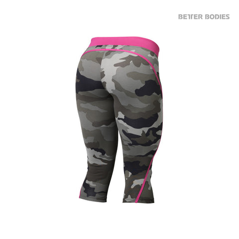 BETTER BODIES CAMO CAPRI TIGHTS