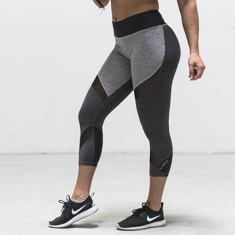 LIVE FIT CUTOUT MESH CAPRI LEGGINGS