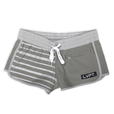 LIVE FIT PIPELINE WOMEN'S BOARDSHORTS - GREY