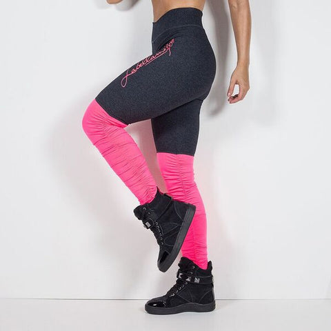 LABELLAMAFIA PINK YOGA LEGGING