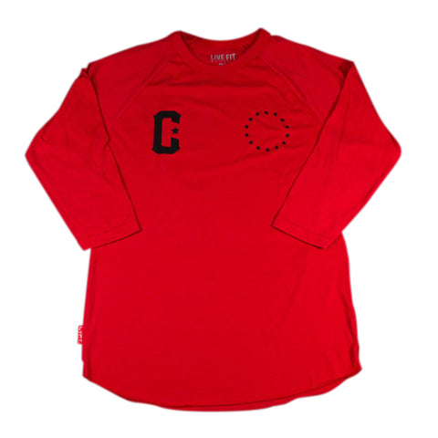 LIVE FIT PREMIUM RAGLAN - RED