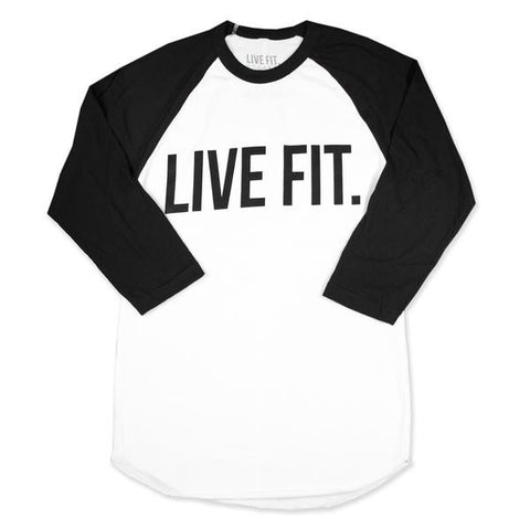 LVFT BASEBALL RAGLAN WHITE/BLACK