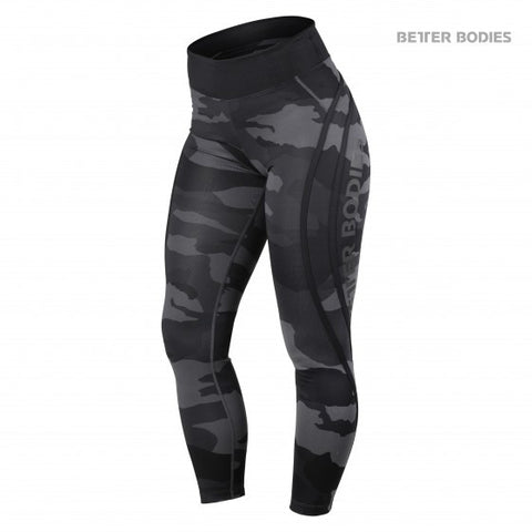 BETTER BODIES CAMO HIGH TIGHTS - DARK GREY CAMO