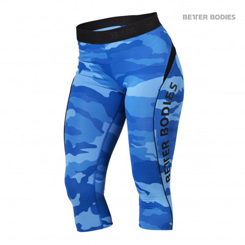 BETTER BODIES FITNESS CURVE CAPRIS - BLUE CAMO