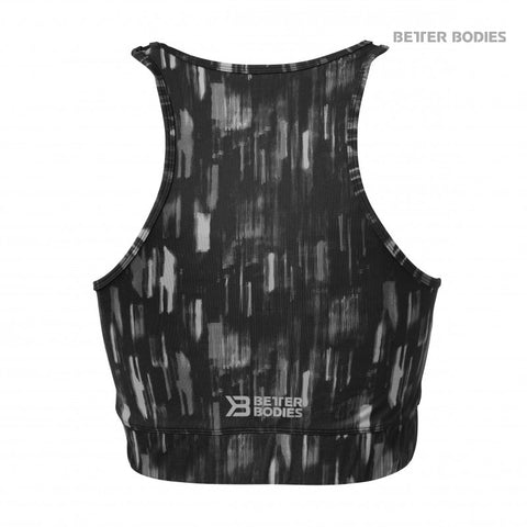 BETTER BODIES MANHATTAN HALTER TOP - DARK GREY