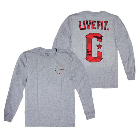 LIVE FIT MILITANT LONGSLEEVE - HEATHER GREY