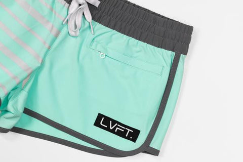 LIVE FIT PIPELINE WOMEN'S BOARDSHORTS - TEAL
