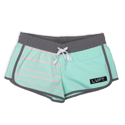 LIVE FIT PIPELINE WOMEN'S BOARDSHORTS -TEAL