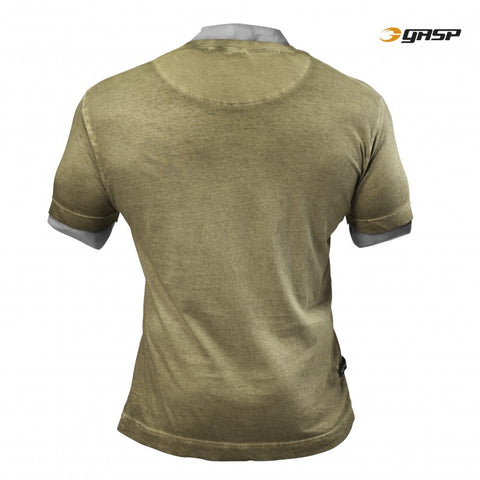 GASP STANDARD ISSUE TEE - MILITARY OLIVE - BACK