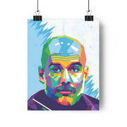 Iconic Pep Guardiola Poster - Football Iconz
