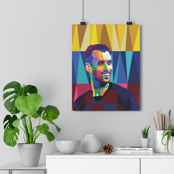 Iconic Sergio Busquets Poster - Football Iconz
