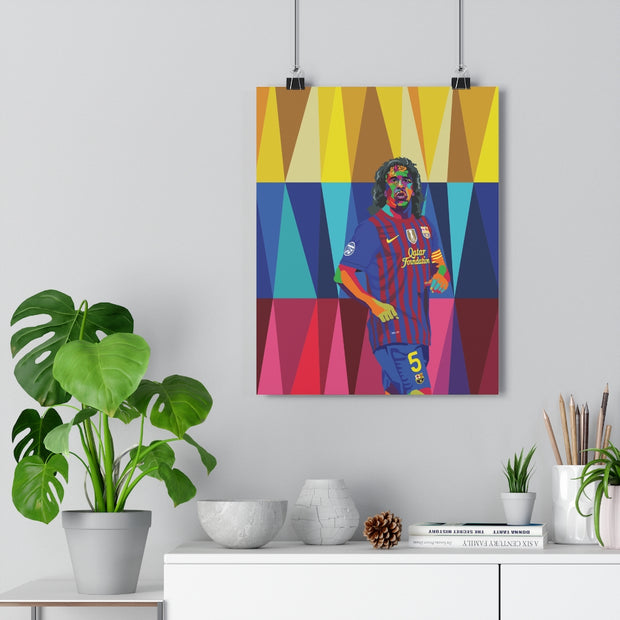 Iconic Carles Puyol Poster - Football Iconz