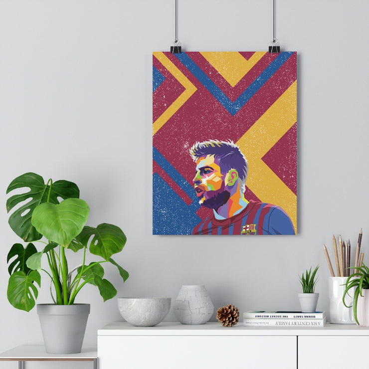 Iconic Gerard Pique Poster - Football Iconz