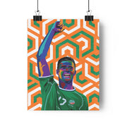 Iconic Niall Quinn Poster - Football Iconz