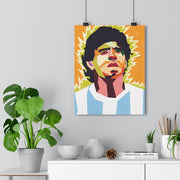 Iconic Diego Maradona Poster - Football Iconz
