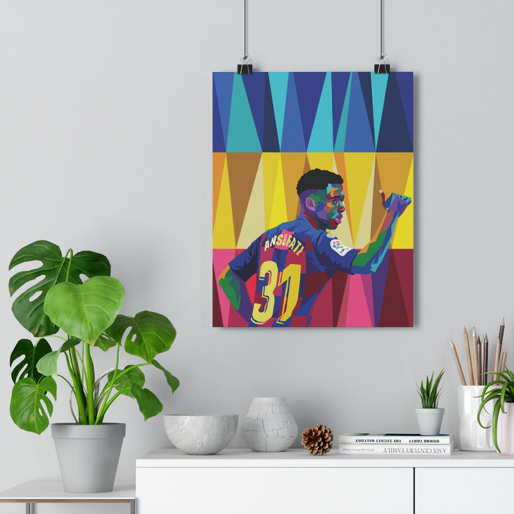 Iconic Ansu Fati Poster - Football Iconz