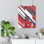 Iconic Dennis Bergkamp Poster - Football Iconz