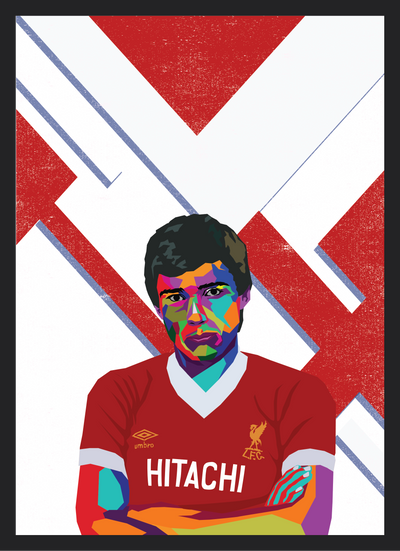Iconic Alan Hansen Poster - Football Iconz