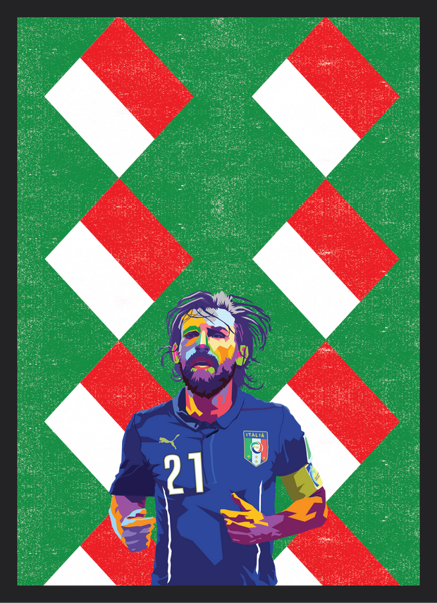 Iconic Andrea Pirlo Poster - Football Iconz
